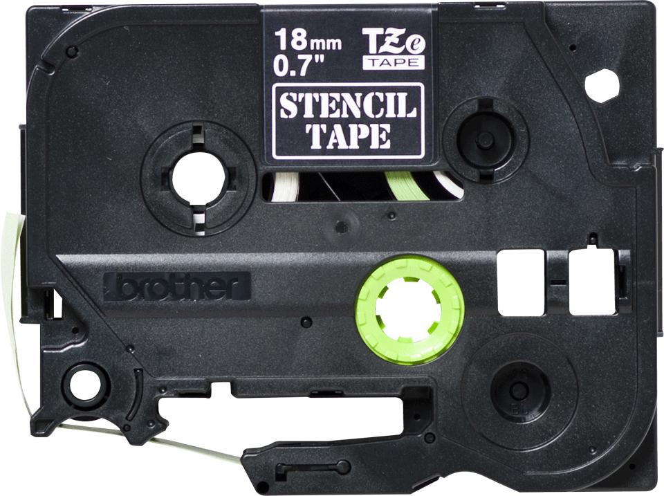 Genuine Brother STe-141 Stencil Tape Cassette – Black, 18mm wide 2