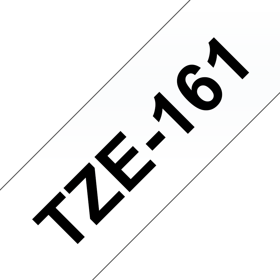 Genuine Brother TZe-161 Labelling Tape Cassette – Black on Clear, 36mm wide