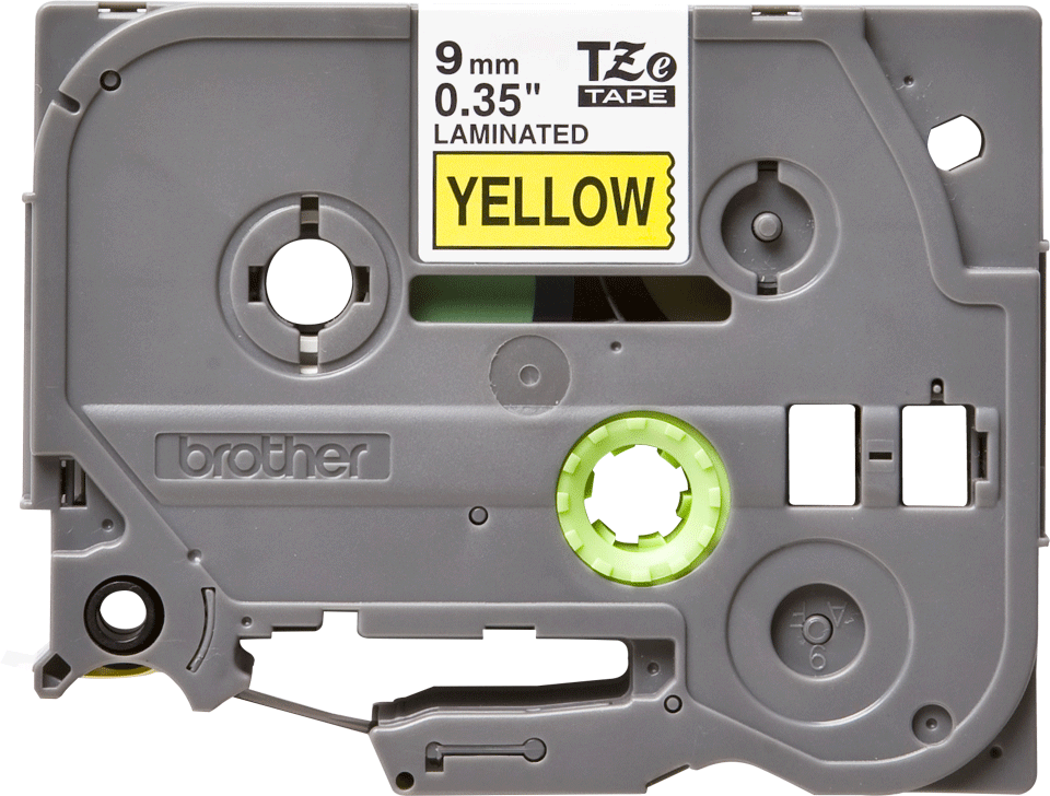 Genuine Brother TZe-621 tape - black on yellow, 9mm wide 2