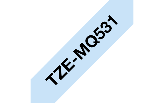 Genuine Brother TZe-MQ531 Labelling Tape Cassette – Black on Pastel Blue, 12mm wide