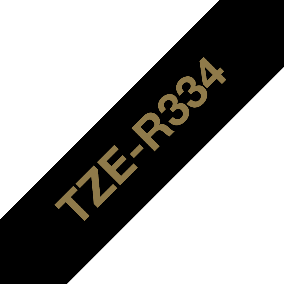 Genuine Brother TZe-R334 Ribbon Tape Cassette – Gold on Black, 12mm wide 6