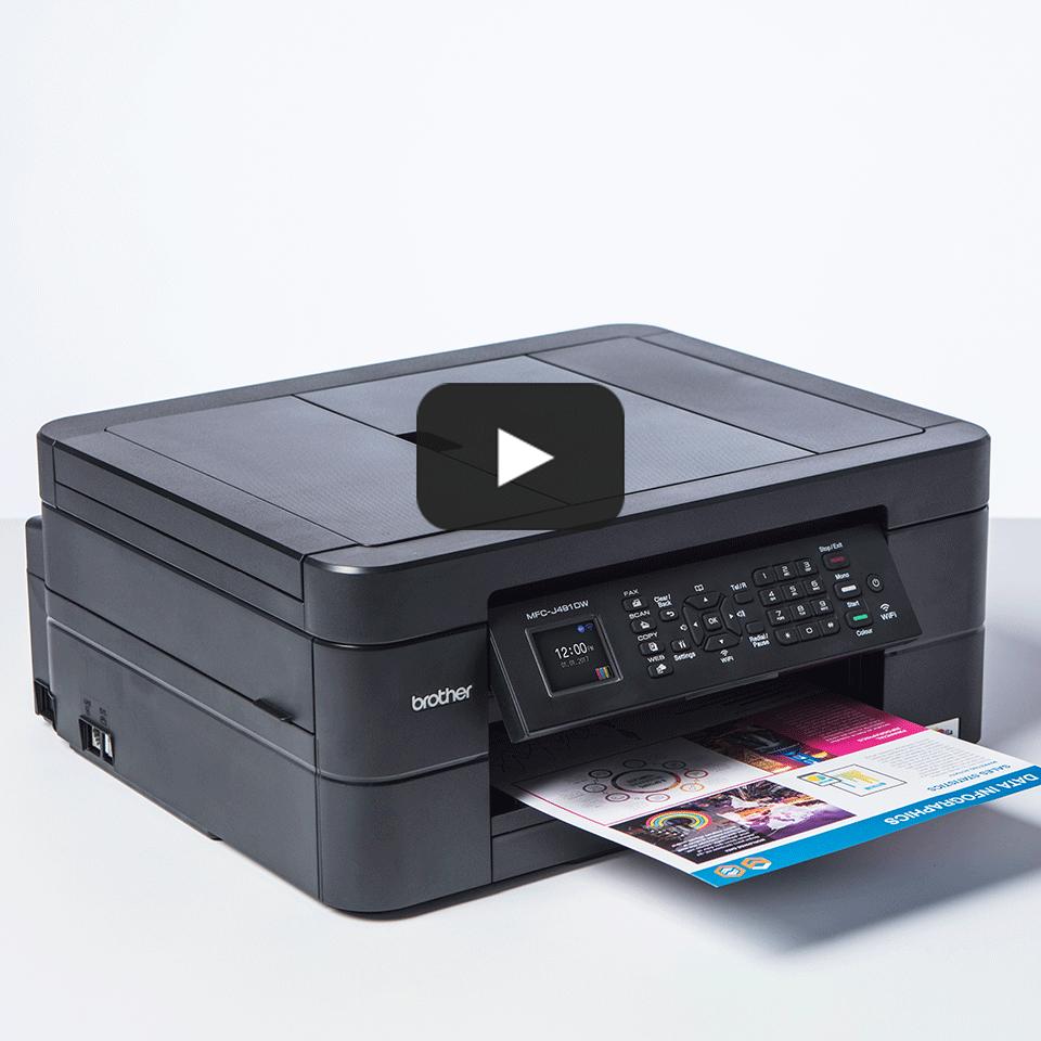 Wireless 4-in-1 Colour Inkjet Printer MFC-J491DW 8