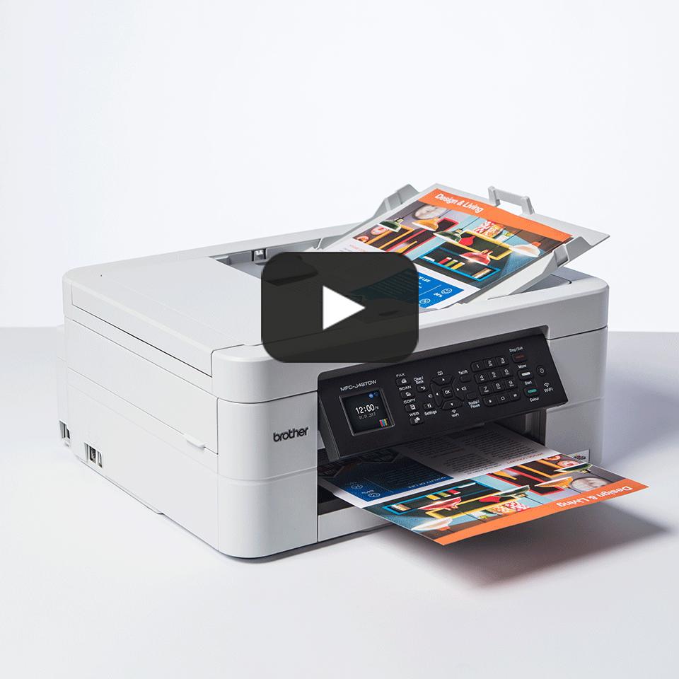 Wireless 4-in-1 Colour Inkjet Printer MFC-J497DW 8