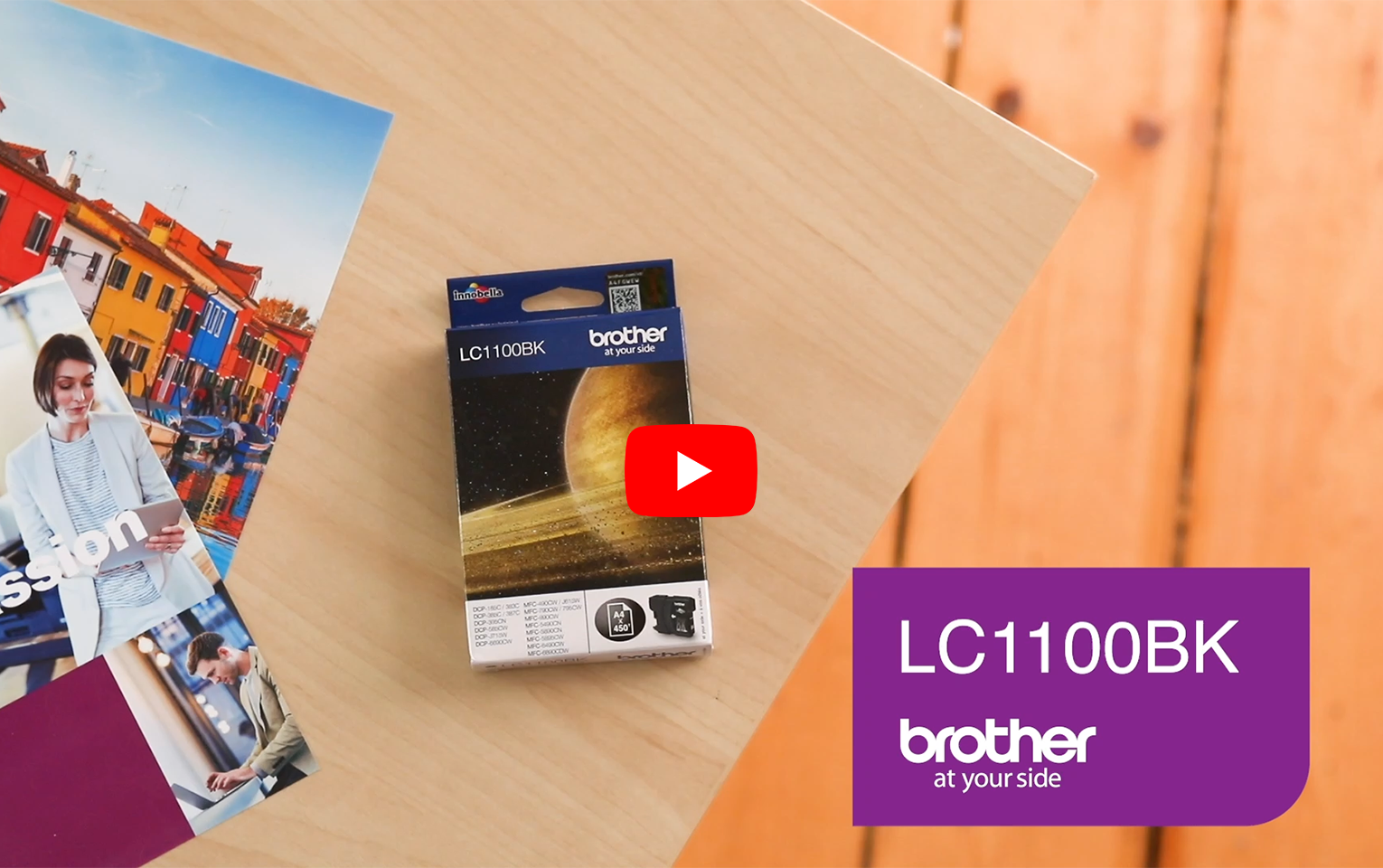 Genuine Brother LC1100BK Ink Cartridge – Black 6